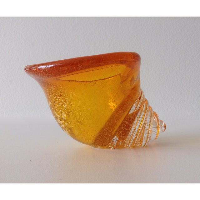 Alfredo Barbini Italian Murano Cognac Shell For Sale In West Palm - Image 6 of 11