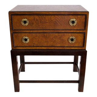 1960s Asian Modern John Widdicomb Walnut Miniature Chest