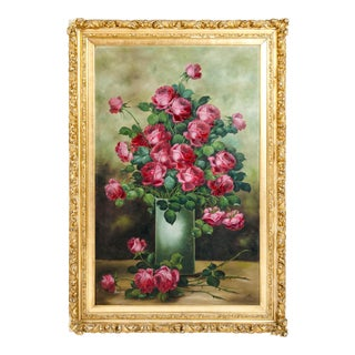 Very Large Giltwood Frame Oil / Canvas Painting For Sale