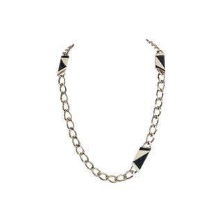 1980s Monet Enamel Sautoir Necklace For Sale