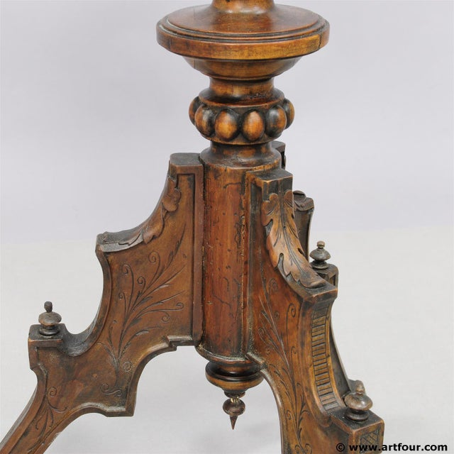 A Great Antique Gueridon With Carved Jester on the Base For Sale - Image 10 of 11