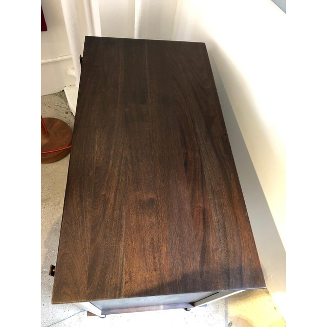 Knoll and Drake Walnut Cabinet With Sliding Doors For Sale In New York - Image 6 of 8