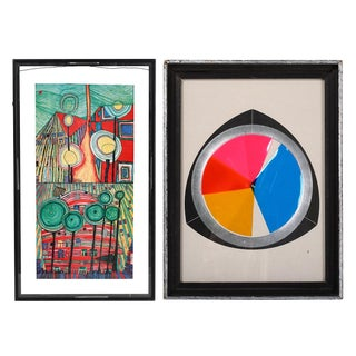 Fletcher Benton Mid-Century Artwork - A Pair For Sale