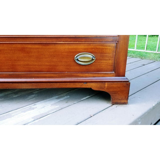 1960s 1966 Biedermeier Craftique Solid Mahogany Sideboard Buffet For Sale - Image 5 of 13