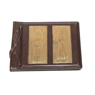 Antique Latvian Arts & Crafts Exhibition Munich Leather Photo Album For Sale