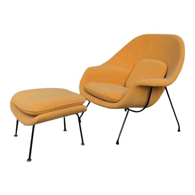 Eero Saarinen for Knoll Womb Chair & Ottoman - Image 1 of 10