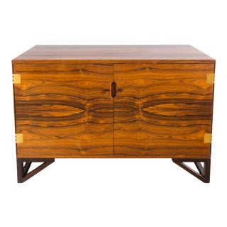 1960s Svend Langkilde Rosewood and Brass Chest For Sale