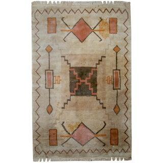 """1960s Vintage Handmade Tibetan Khaden Rug - 5'2"""" x 7'7"""" For Sale"""