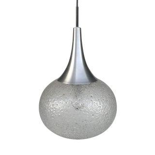 1960s Murano Glass Pendant Globe Ceiling Lamp Light by Doria For Sale