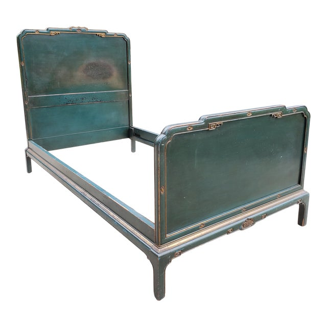 Antique Chinoiserie Twin Bed For Sale