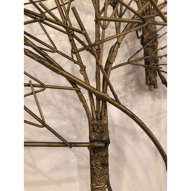 Gold Vintage Metal Tree Wall Art Sculpture For Sale - Image 8 of 11