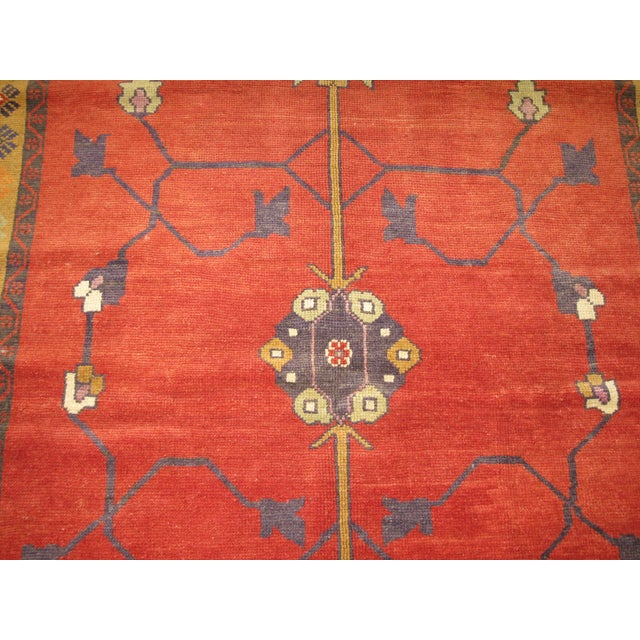Vintage Hand Knotted Tribal Rug - 4′ × 7′1″ For Sale - Image 4 of 7