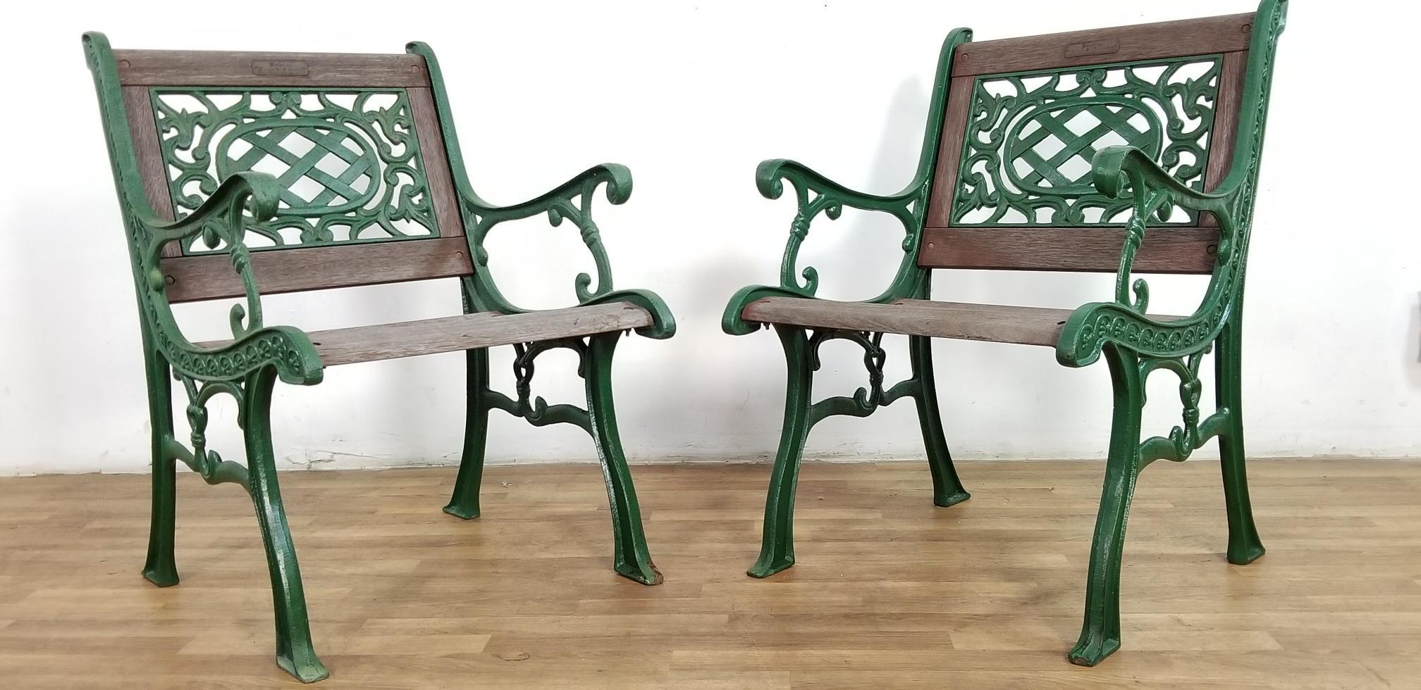 1960s Vintage Wrought Iron Berkeley Forge U0026 Foundry Park Chairs  Set Of 6  For Sale