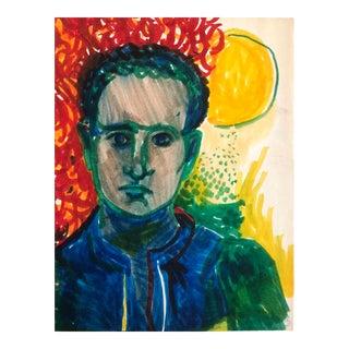 Modern Self Portrait by James Bone 1966 For Sale