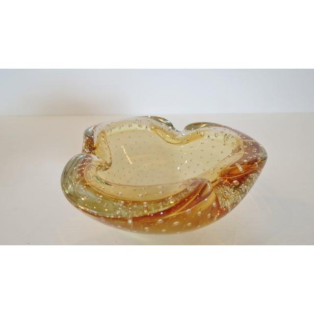 Gold Murano Bubble Glass Bowl - Image 3 of 4