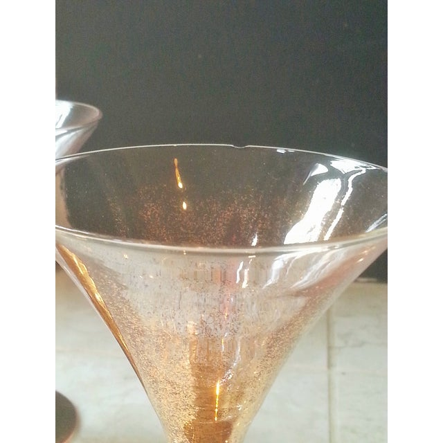 Dorothy Thorpe Cocktail Glasses W/ Gold Flecks - 4 - Image 9 of 10