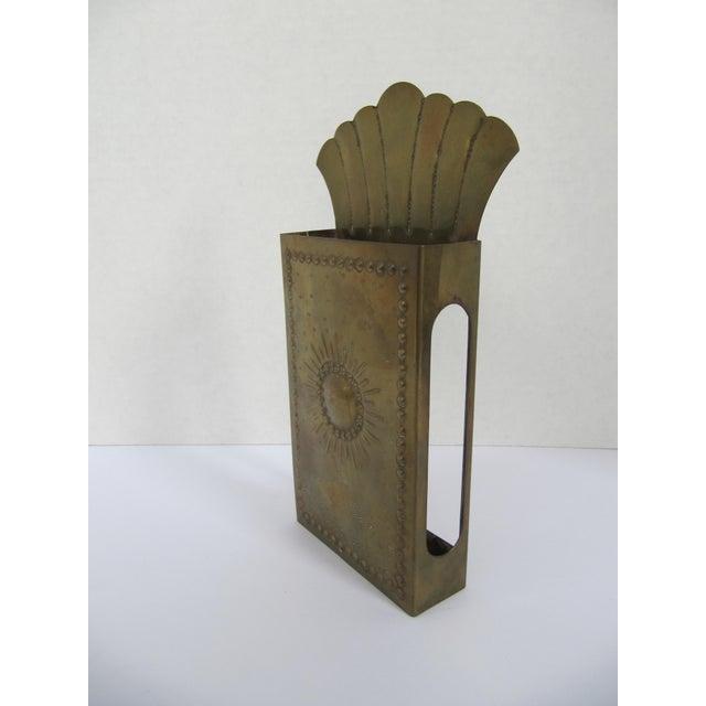 Vintag Brass Starburst Match Stick Holder For Sale - Image 4 of 6