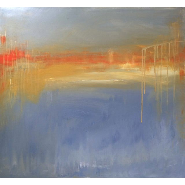 'FiRE iSLAND' Original Abstract Painting - Image 1 of 7