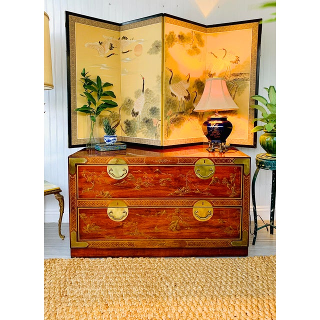 Chinoiserie Drexel Rosewood Chest of 2 Drawers For Sale - Image 9 of 13