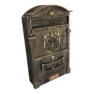 20th Century Mail Box With Coat of Arms For Sale