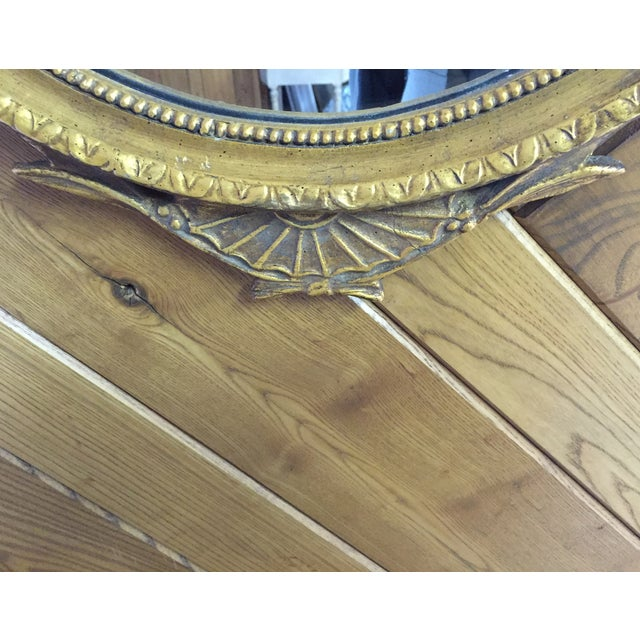 Oval French Carved Gilt Mirror - Image 6 of 6