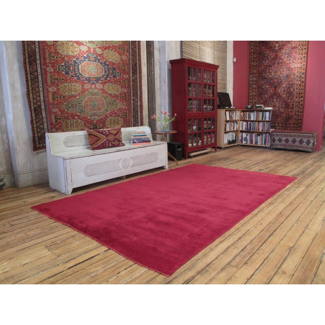 """A superb old village rug, woven with high pile, in the """"Tulu"""" tradition, with finest quality wool. Unusually large..."""
