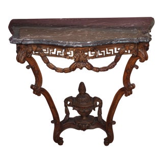 Louis XV Epoch Console With Marble Top For Sale