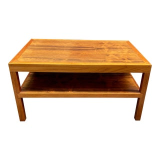 Rosewood and Teak Custom Made End Table 1970 For Sale
