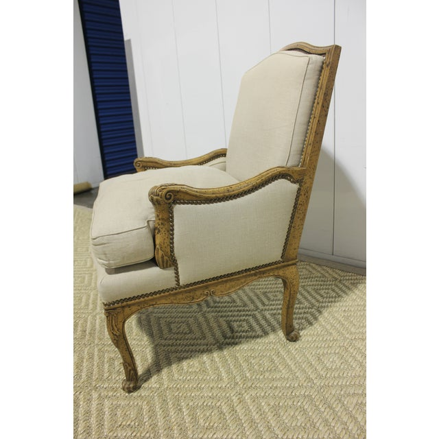 French Early 20th Century Vintage Yale R. Burge Arm Chair For Sale - Image 3 of 8