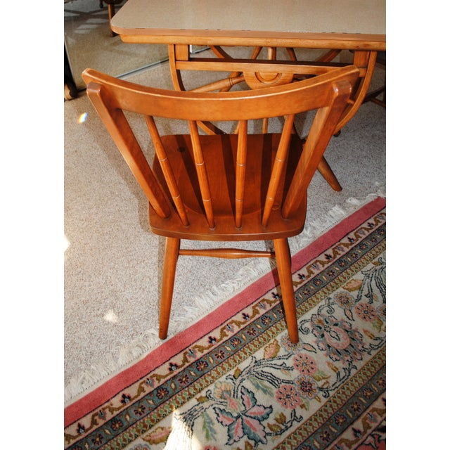1950's Southwestern Baumritter Ethan Allan Wagon Wheel Dining Set - 5 Pieces For Sale - Image 6 of 13