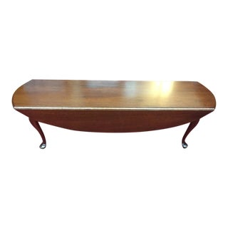 1950s Biggs Mahogany Coffee Table With Drop Sides For Sale