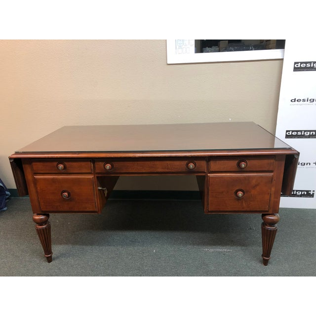 Ethan Allen Cherry Executive Desk For Sale - Image 10 of 10