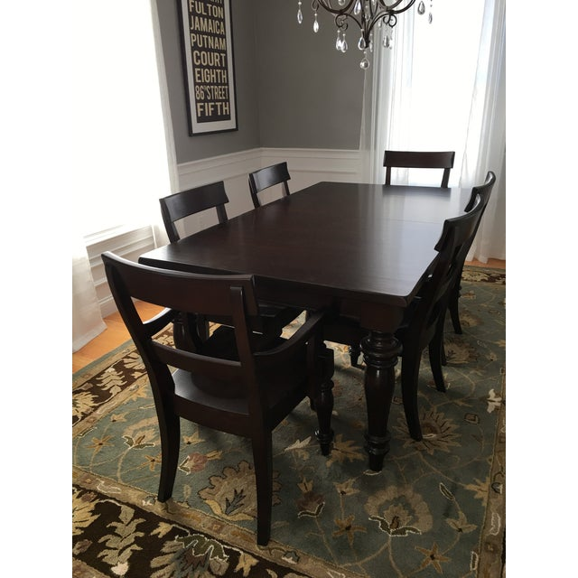 This Pottery Barn Montego Dining Table Comes With 6 Chairs It Has Been In Our