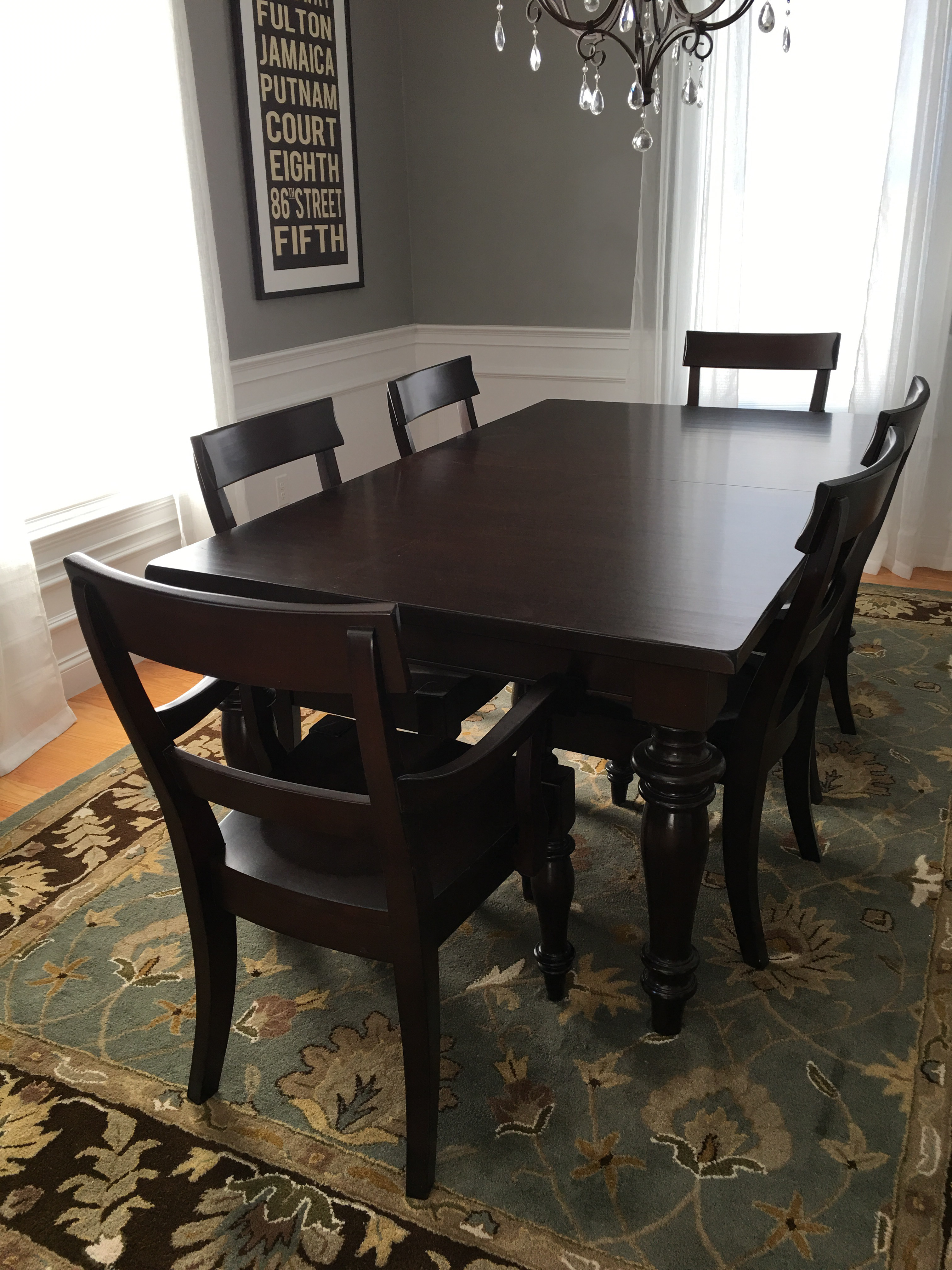 This Pottery Barn Montego Dining Table Comes With 6 Chairs. It Has Been In  Our