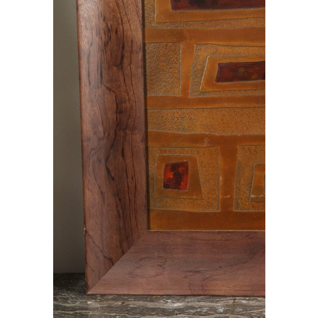 Mid-Century French Brass and Enamel Panel For Sale In Los Angeles - Image 6 of 11