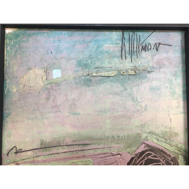 Graham Harmon 1960s Framed Abstract Painting   Chairish