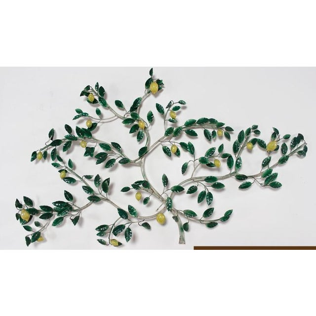 This retro lemon tree tole wall sculpture was made in Italy and is constructed of painted metal. A romantic design with...
