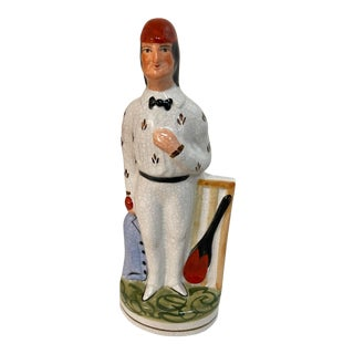 1960s Ceramic Cricket Player For Sale