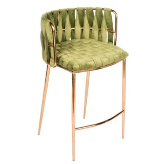 Modern Milano Green Bar Chair For Sale