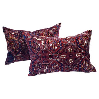 Oriental Carpet Velvet Pillows - Pair