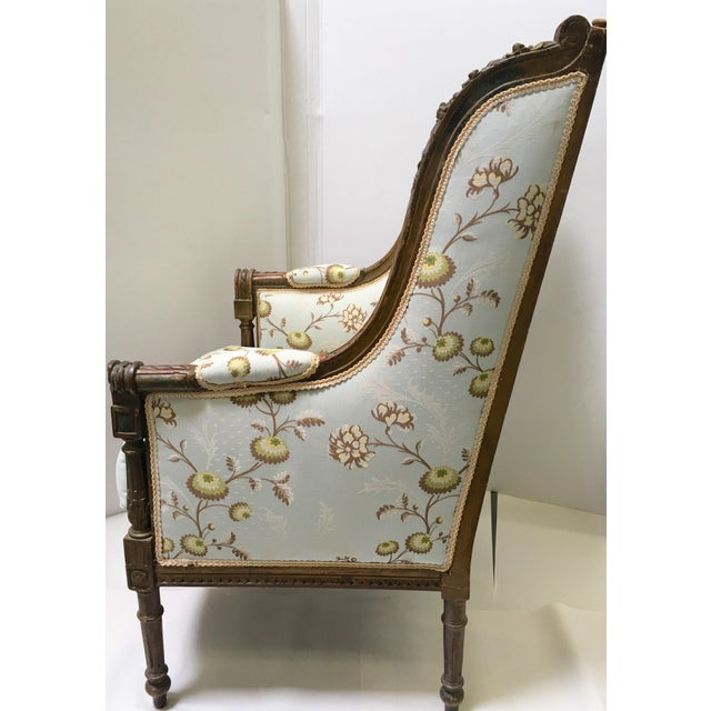 Antique French Wingback Chair - Image 4 of 9