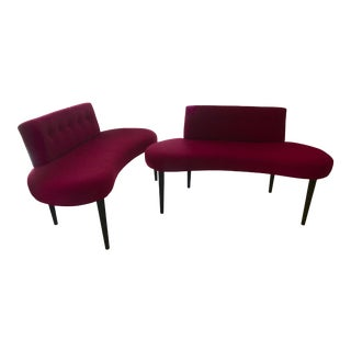 Modern Pink Benches- A Pair For Sale