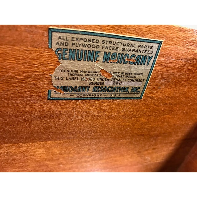 Vintage Mahogany Bow Front Bachelor Chest w/ Ball and Claw Feet For Sale - Image 11 of 11