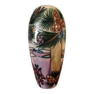 Moorcroft Pottery Rachel Bishop New Forest Series Vase For Sale