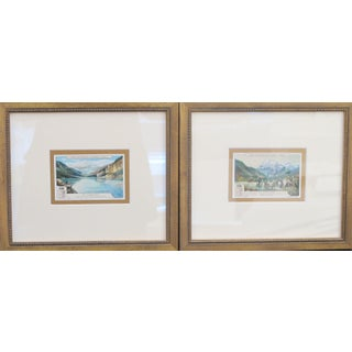 1900s Framed Italian Collector Cards - A Pair