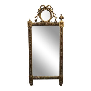 Antique French Provincial Style Gilded Mirror For Sale