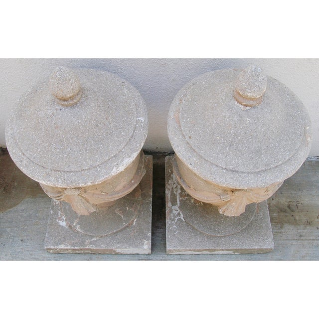 Large Estate Concrete Garden Finials - Pair - Image 4 of 11