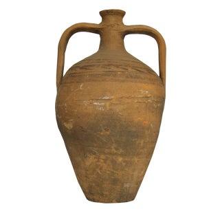 1980s Turkish Antique Terracotta Water Jar