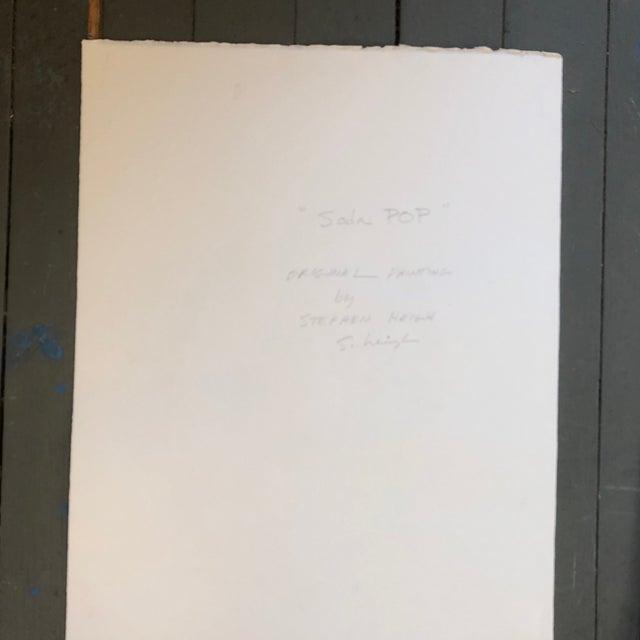 Original Pop Art Painting Stephen Heigh Illustration Pepsi For Sale - Image 4 of 6