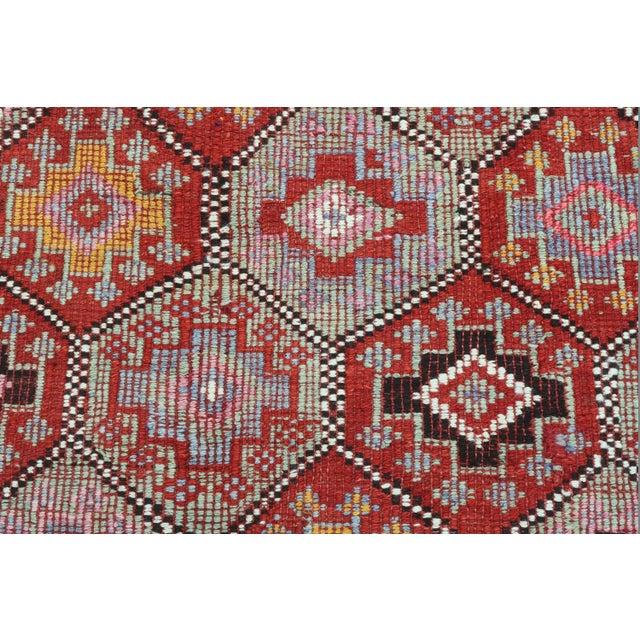 Vintage Turkish Fethiye Nomad's Flat Weave Rug For Sale - Image 11 of 12